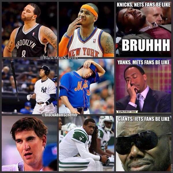 Nba Meme Team On Twitter New York Sports Fans Be Like Http