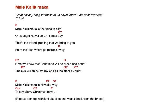 Hawaiian Christmas Ukulele Chords Christmaswalls