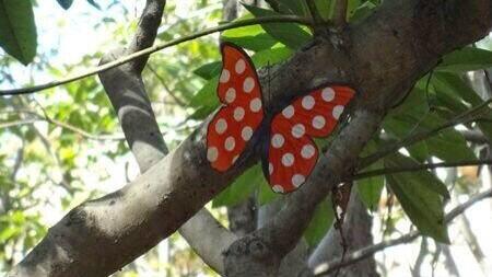 test ツイッターメディア - ミニーをイメージした可愛い蝶々にも遭遇できますよ♡生息地はディズニーシーの奥地だよ♪ https://t.co/AVLs3fs9d3