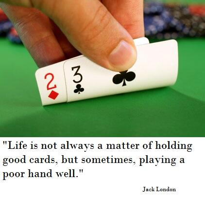 Image result for playing cards poor hand images