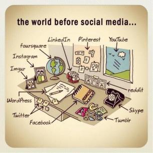 the world before social media