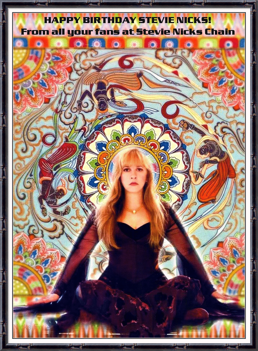 Stevie Nicks Chain On Twitter We Re Sending Happy Birthday Wishes Out To Stevienicks From All Your Fans At Stevie Nicks Chain Fleetwoodmac Http T Co Ehjykf9c0i