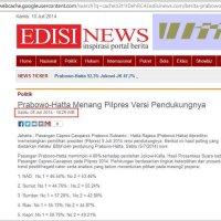 EDISI News Merekayasa Kesan Rekap PKS Palsu oleh @ratu_adil