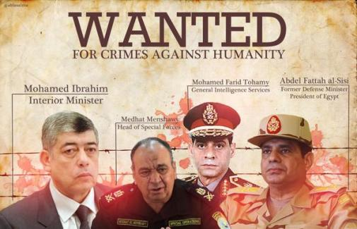 Image result for sisi wanted crimes against humanity