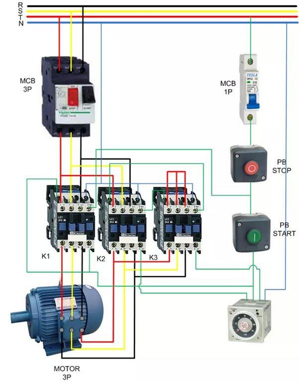 wiring diagram of star delta motor starter wiring actual photo of control wiring diagram star delta starter wiring on wiring diagram of star delta