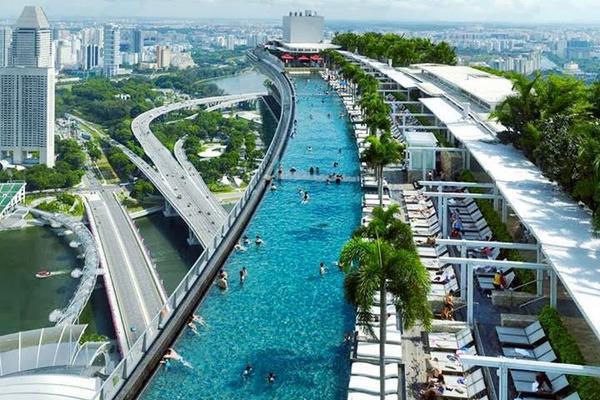 Marina Bay Sands Pool Singapur