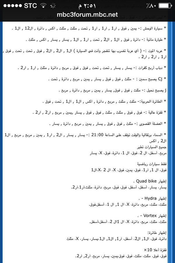 كلمات سر قراند سوني 2
