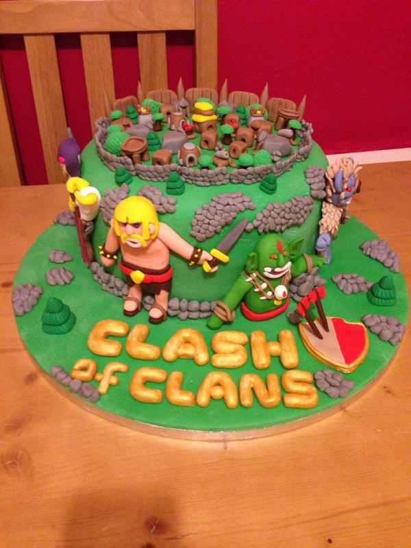 Harry On Twitter Kimkinloch Clashofclans Clashofclans Clash Of Clans Birthday Cake For My Friends Son Http T Co Hechnwdpml Get Me This Cake