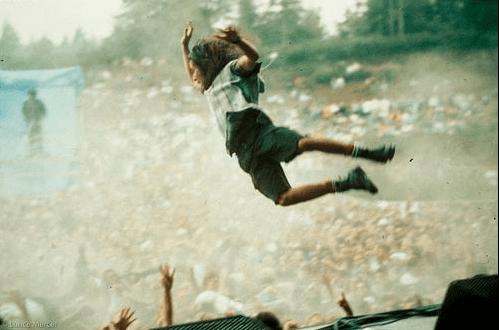 Eddie Vedder leaps