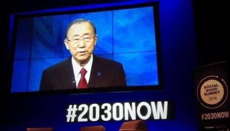 Secretary-General Ban Ki-moon addressed Social Good Summit attendees