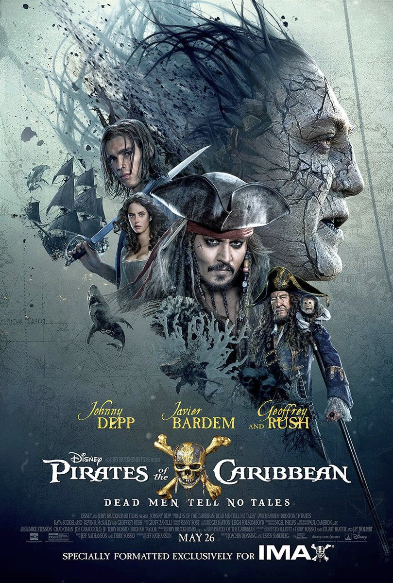 Pirates of the Caribbean: Dead Men Tell No Tales Gets An IMAX Poster