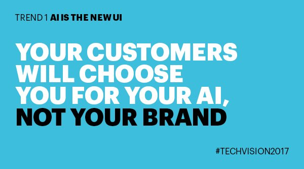 #AI will help companies improve the experience and outcome for every interaction. @Accenture