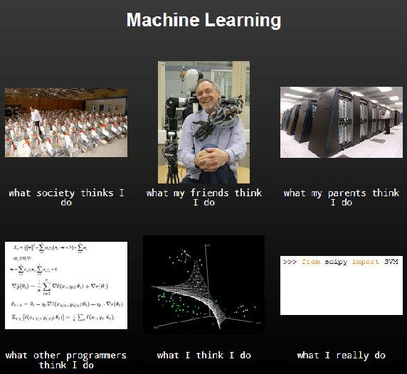 Different views of #Machinelearning #cartoon #humor