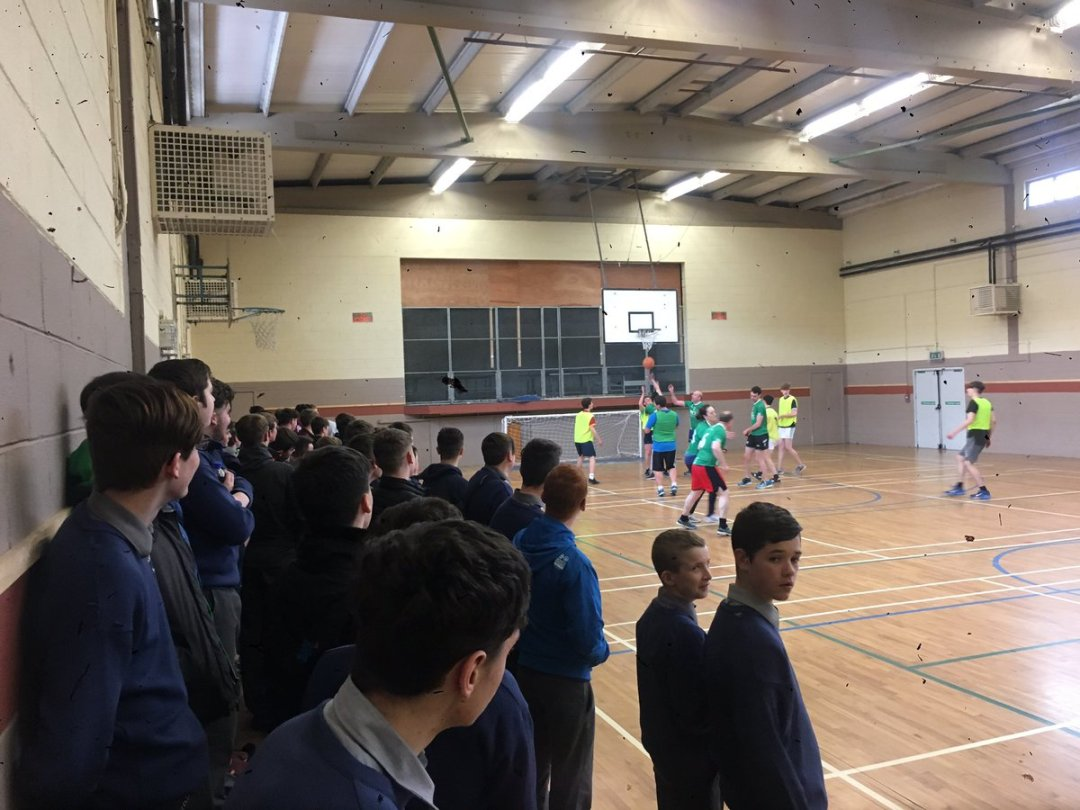 Serious competition in the students v teachers basketball match today at lunch with teachers currently in the lead! #activeschoolsweek