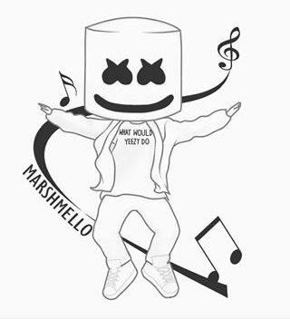 dj coloring pages | Dj Marshmello Coloring Pages | Decoromah
