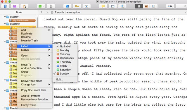 4 ways to use the color coding function in Scrivener. #amwriting #writing @scrivenerapp