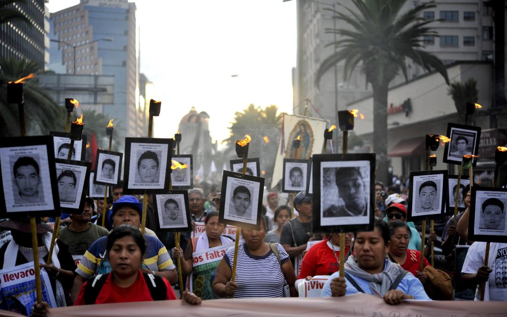 """Mexico: """"Caravan for Memory and Hope"""" for Missing College Students Arrives in Capital."""