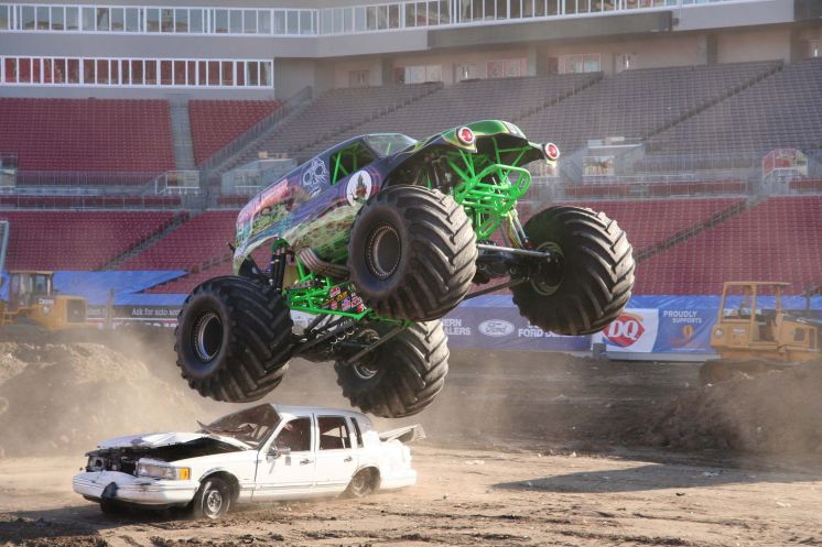 Selfie time: Free monster truck displays around the Tampa Bay area Thursday