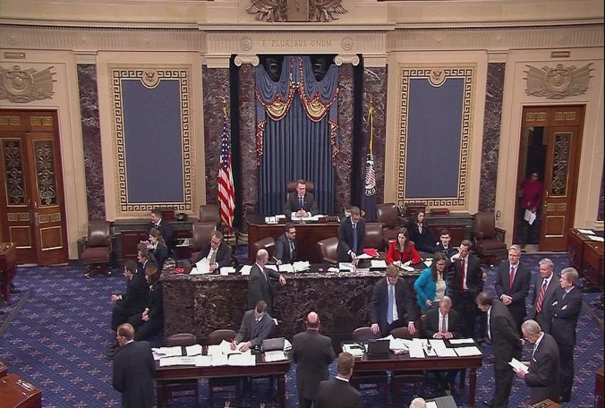 Senate early Thurs passed measure on 1st step to dismantling Pres. Obama's health care law.