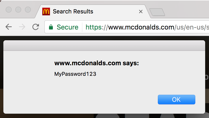 Stealing passwords from McDonald's users through an AngularJS sandbox escape.