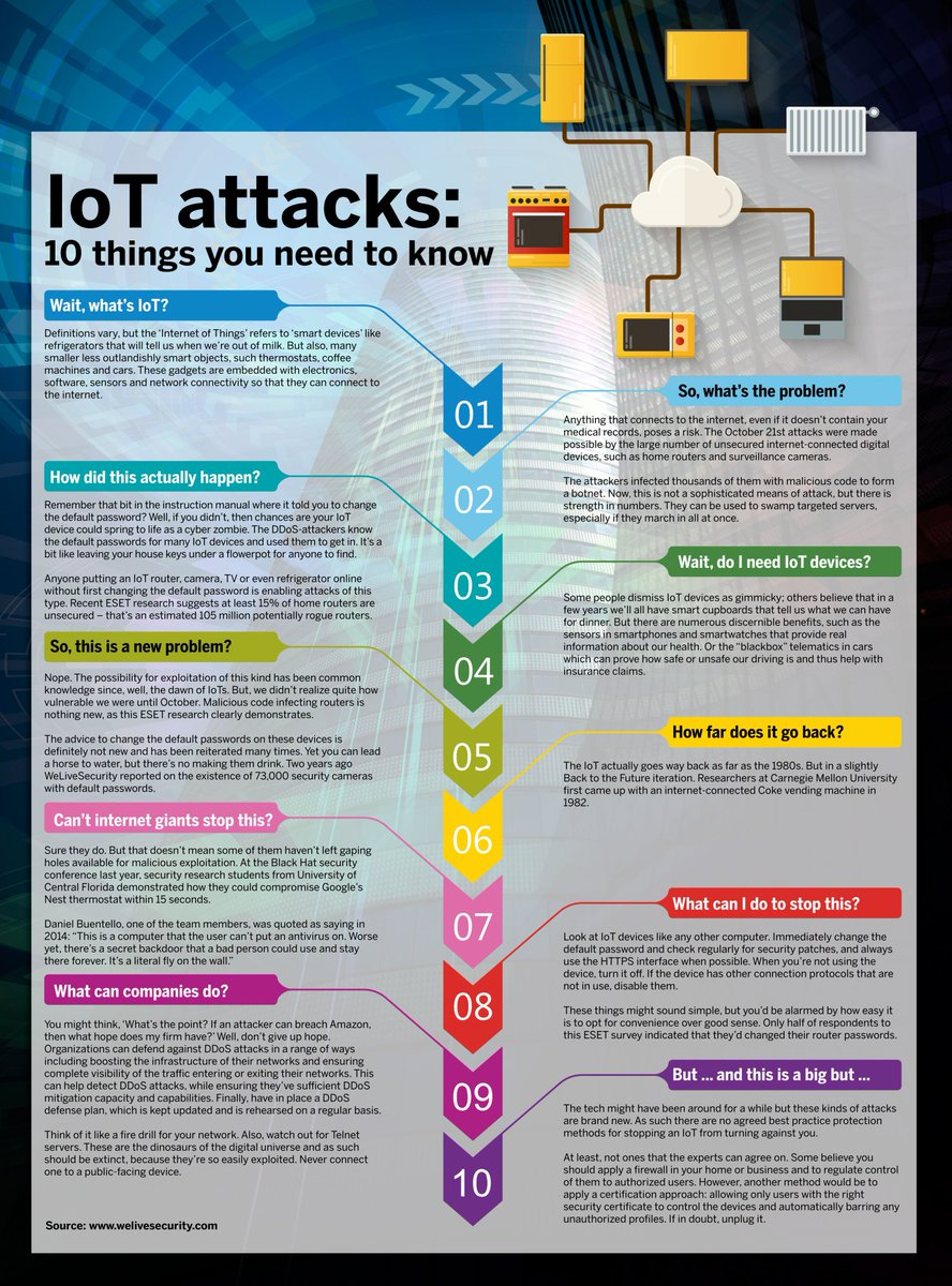 #IoT attacks: 10 things you need to know @scmagazine  #CyberSecurity @evanderburg #datasec