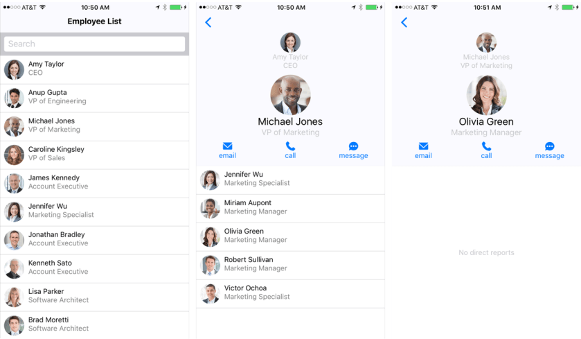 Employee Directory: Sample app with #ReactNative and #NodeJS