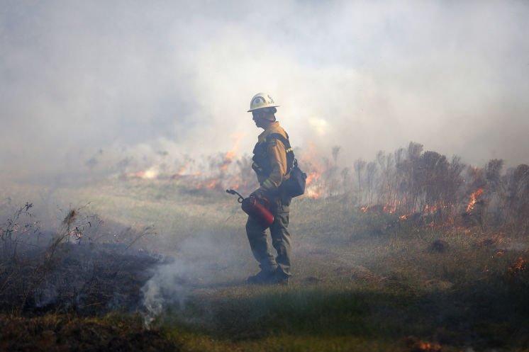 With winds weakened, prescribed burning season back in full swing