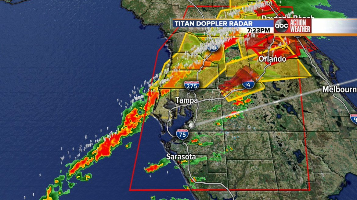 #BREAKING WEATHER ALERT | Severe Thunderstorm WARNING issued for Polk until 8 p.m.
