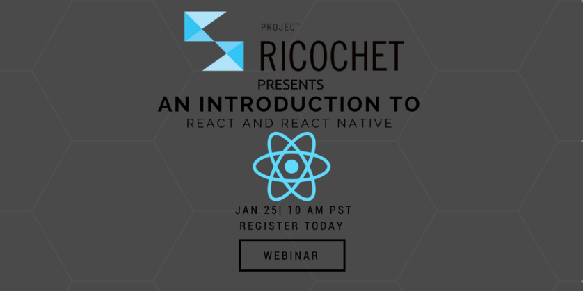 Have you signed up yet? [webinar] AN INTRODUCTION TO #REACT AND #REACTNATIVE #javascript