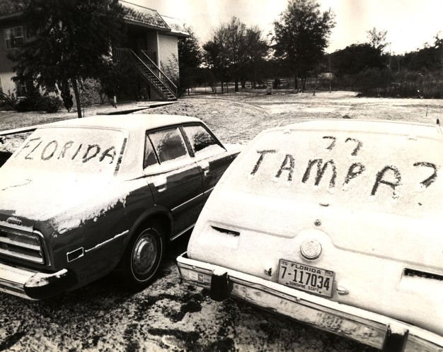 The day it snowed in Tampa Bay, 40 years ago today