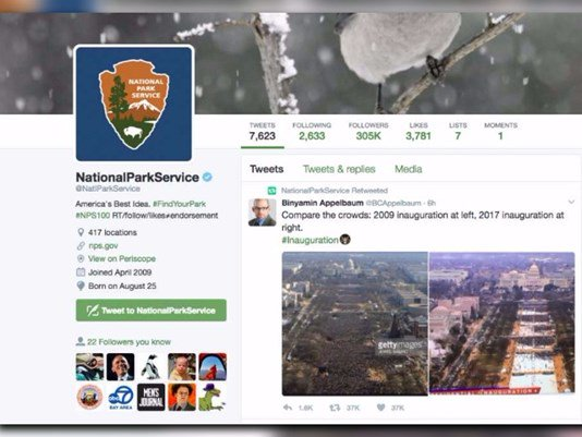 National Park Service suspends tweeting following questionable retweet: