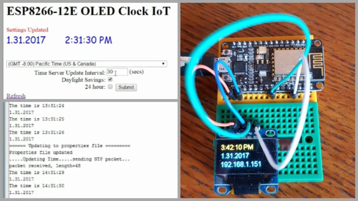 ESP8266 OLED Clock IoT Using AJAX 🔧  📺   #Gadgets #Projects