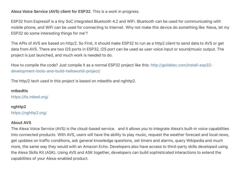 Huan: Alexa Voice Service (AVS) Client for ESP32 🛠   #IoT