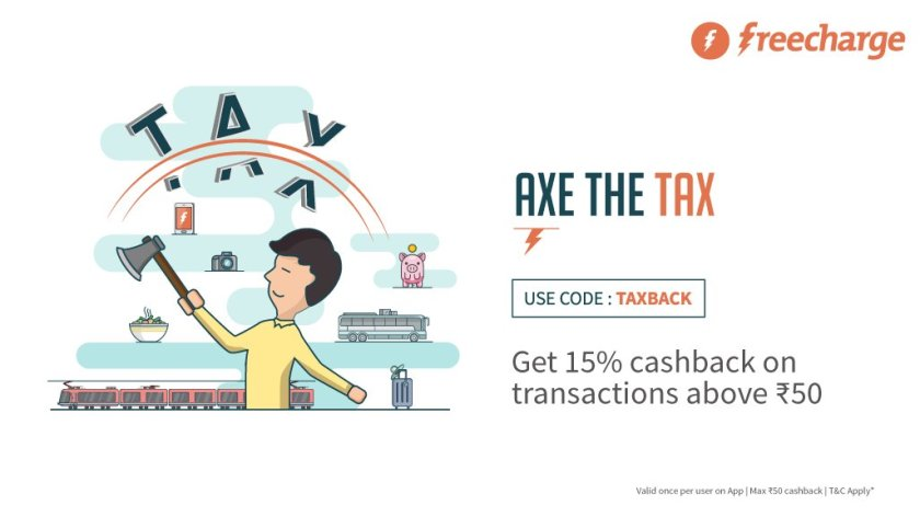 Freecharge Taxback offer