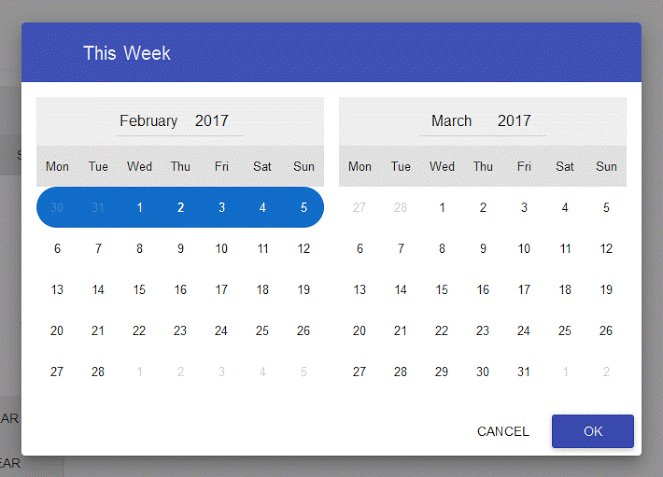 #Angularjs Material Date Range Picker Directive  #javascript