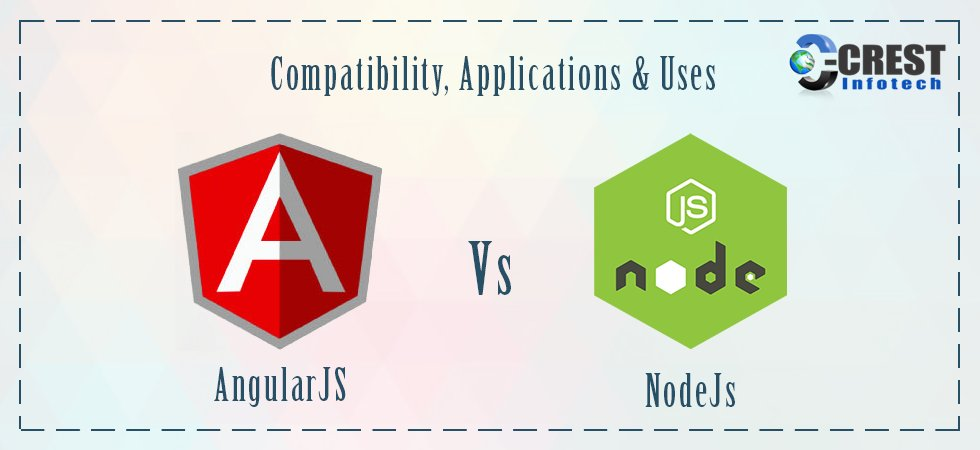 #AngularJS V/S #Nodejs : Compatibility, Applications & Uses  :-   #WebApplication #javascript