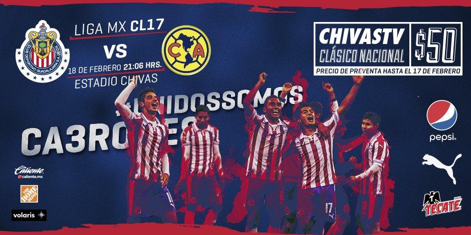 Contratar Chivas tv Chivas vs América