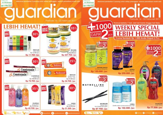 Promo Guardian +1000, cocok banget buat shopping irit