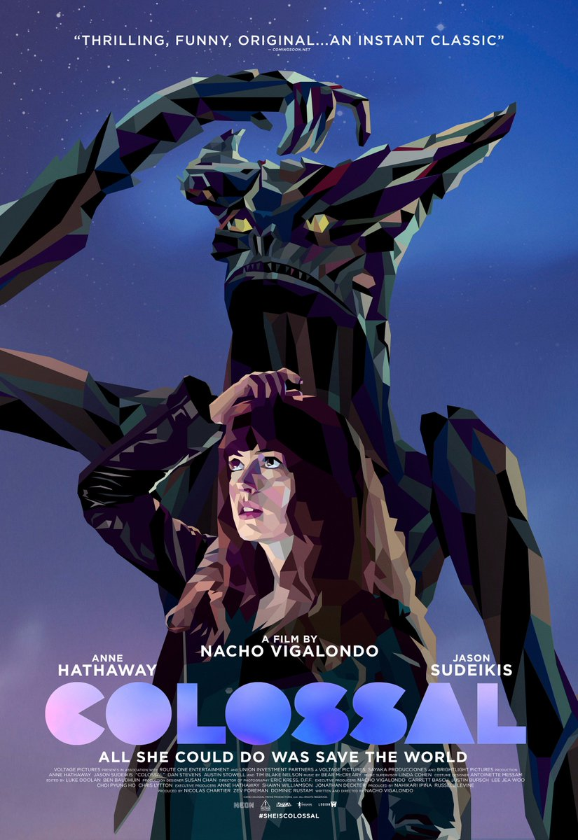 Colossal Poster Featuring Anne Hathaway & Kaiju