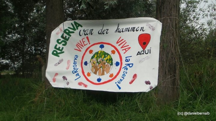Valla artesanal La Reserva Van der Hammen vive