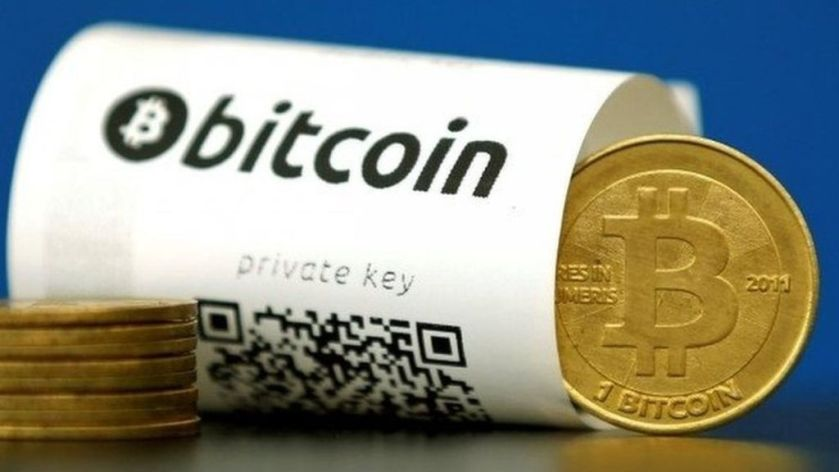 #bitcoin value tops gold for first time  BBC News