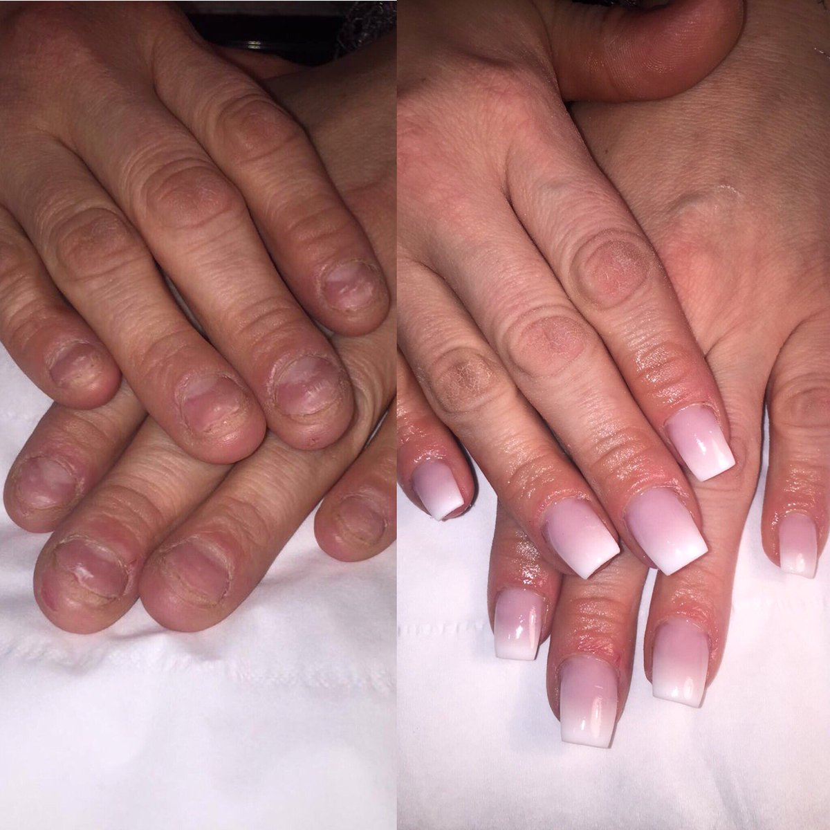 Ombre French Manicure Acrylic Papillon Day Spa