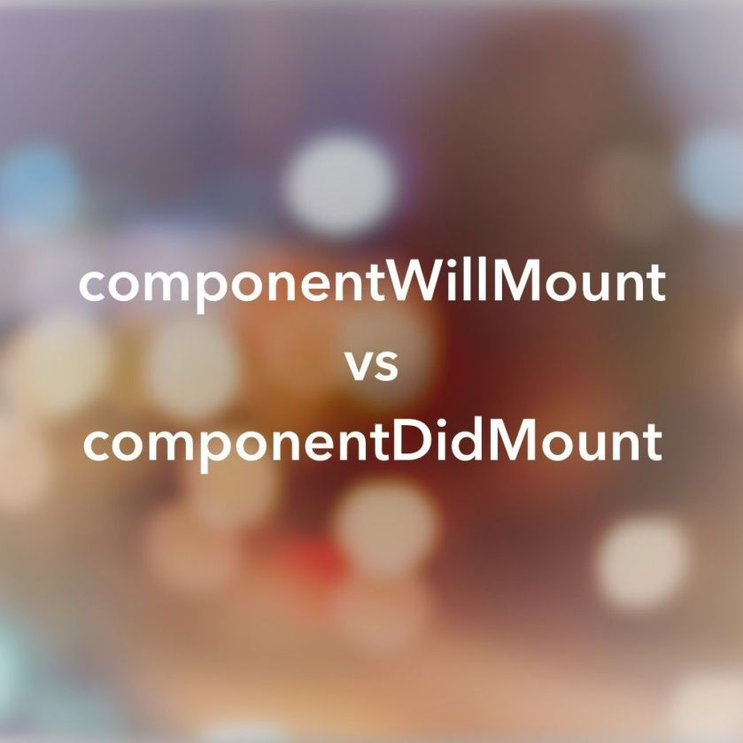 Where to Fetch Data: componentWillMount vs componentDidMount  #ReactJS #JavaScript