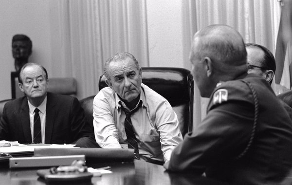 Image result for photo of LBJ agonizing over Vietnam