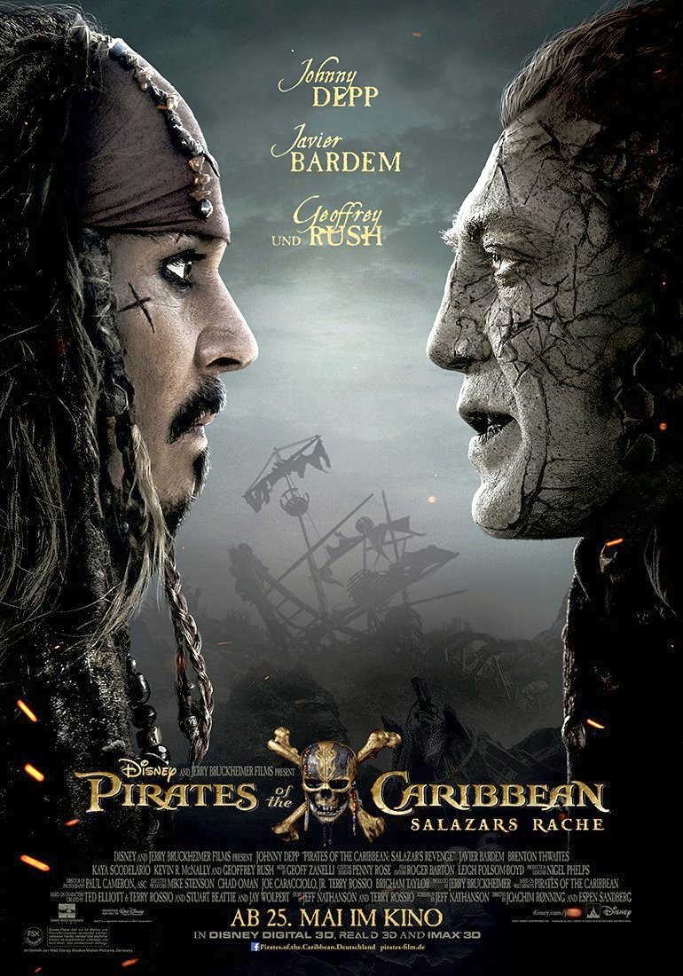 New Pirates of the Caribbean: Dead Men Tell No Tales Trailer & Poster