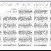 "@vcanet ""#JavierAbil, víctima de l'#homofòbia"" #stopLGTBIfòbia a #laSafor / #Valldigna"