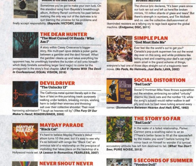 Devildriver On Twitter Thanks To This Months Issue Of Altpress For Putting Us In Their  Essential Bad Luck Tracks Whos Throwing Down To The Unlucky