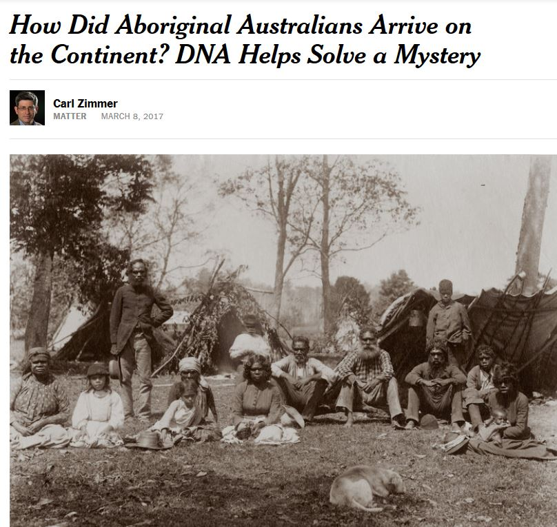 How did Aboriginal Australians arrive on the continent?