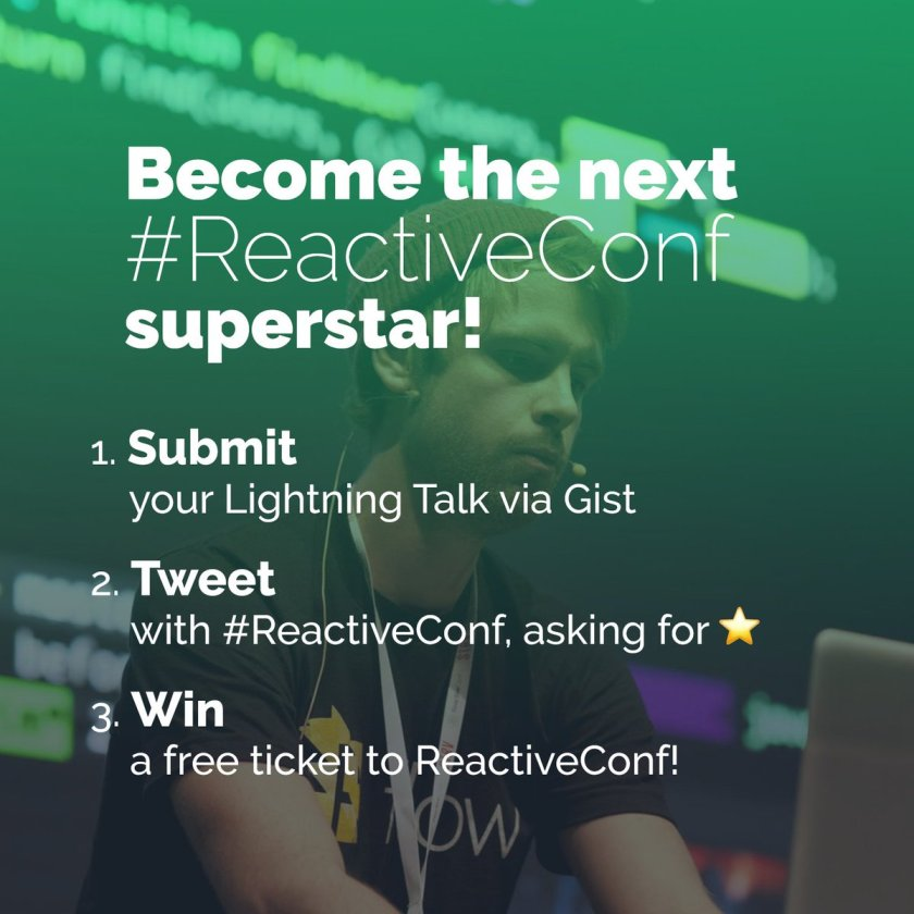 Show your talent and become the next #ReactJS star:  #ReactiveConf
