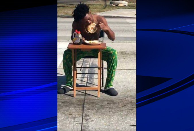 Florida Man Arrested For Eating Pancakes in Middle of Crosswalk